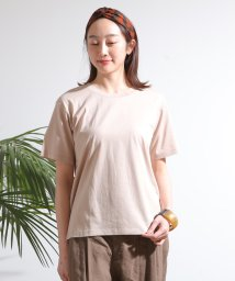 MELROSE Claire/【WEB限定】コットンレーヨンクルーネックTシャツ/503194489