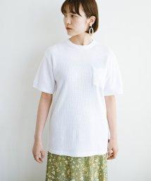 haco!/【抗菌・防臭機能付き】ワッフル素材のクルーネックTシャツby Healthknit/503195166