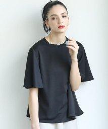 coca/とろみ素材袖フレアTシャツ/503195711