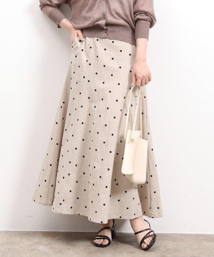 ビス 綿麻ツイルドットマーメイドスカート レディース ベージュ(27) F 【ViS】