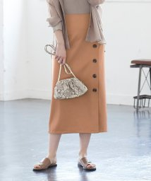 titivate/デザイン釦ラップスカート/503200620