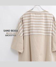 1111clothing/ビッグtシャツ メンズ ビッグtシャツ レディース ビッグシルエットtシャツ tシャツ 半袖 5分袖 メンズ 半袖tシャツ オーバーサイズ tシャツ ボーダー /503201115
