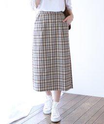 BLUEEAST/チェック柄ロングタイトスカート/503201332