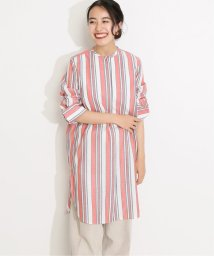 VERMEIL par iena/Deveauxストライプバンドカラーシャツ◆/503201594