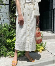 ROPE' mademoiselle/【セットアップ対応】マーガレットレーススカート/503202317