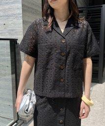 ROPE' mademoiselle/【セットアップ対応】マーガレットレース半袖シャツ/503202320