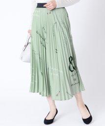 LASUD/[RADIATE] ロゴデザイン プリーツスカート/503005832