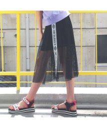 ALGY/ニコ☆プチ6月号掲載 |メッシュ重ねスカート/503069029