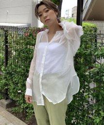 LIPSTAR/【WEB別注】シアーバンドカラーシャツ/503182889