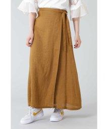 ROSE BUD/リネン巻きスカート/503191740