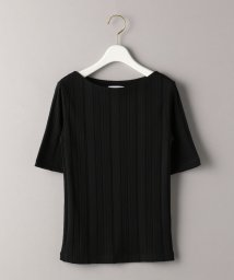 BEAUTY&YOUTH UNITED ARROWS/BY ランダムテレコボートネック5分袖カットソー/503191924