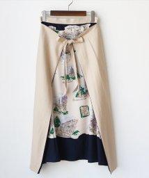 REAL CUBE/3WAY絵画プリントスカーフラップスカート/503198272