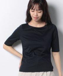 MADAM JOCONDE/【洗える】コットン天竺 五分袖Tシャツ/503198847