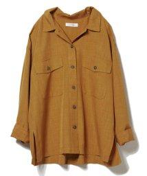 CLEAR IMPRESSION/リネンライクベルト付きシャツ/503202856
