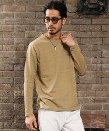 maestoso/綿100%ヘビーウェイトポケット付ロングTシャツ/503203009