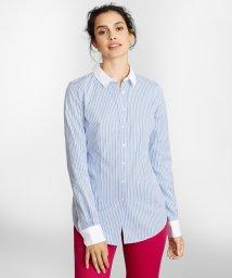Brooks Brothers/ノンアイロン コットントリプルストライプ クレリックドレスシャツ Tailored Fit/503180466