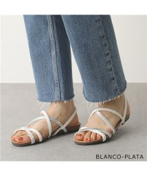 PLAKTON/【PLAKTON(プラクトン)】575611 カラー2色 クロスストラップ 細ベルト コンフォートサンダル フラットサンダル 靴 レディース    /503196315