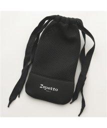 Repetto/【repetto(レペット)】B0327MP POCH PTE 巾着 ポーチ メッシュ ネオプレン ロゴ 410/Noir レディース/503196331