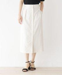 OPAQUE.CLIP/【洗える・34(SS)、42(LL)WEB限定サイズ】Reflax Linonツイル ボタンデザインナロースカート/503203867