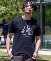 Nylaus/手書き風 イラスト キャラクター プリント バックプリント 半袖Tシャツ/503204455