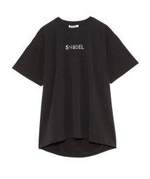 SNIDEL/フォイルプリントTシャツ/503205058