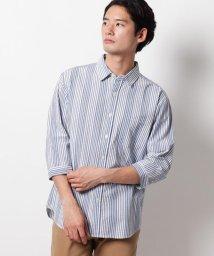 THE SHOP TK/シアサッカー7分袖シャツ/503205078
