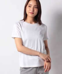 Leilian/ビジューネックTシャツ/503152821
