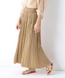 Demi-Luxe BEAMS/Demi-Luxe BEAMS / サテンランダムプリーツ スカート/503154739