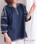 Sawa a la mode/エレガント刺繍のコットントップス/503206967