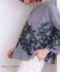 Sawa a la mode/スパンコール付きフラワー刺繍のトップス/503206971