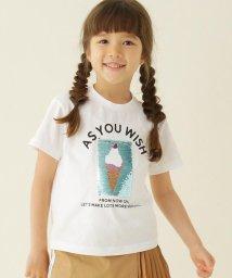 THE SHOP TK(KID)/【100-150cm】スパンコールアイスクリーム柄Tシャツ/503207068