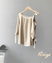 ARGO TOKYO/【ME LOVE by ARGO TOKYO】レディースファッション/肩だしリボンブラウス/503207102