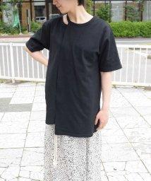 ARGO TOKYO/Recycle cotton neck design T-shirt 24147/503207104