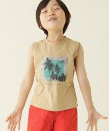 THE SHOP TK(KID)/【100-150cm】フォトライクプリントノースリーブトップス/503207109