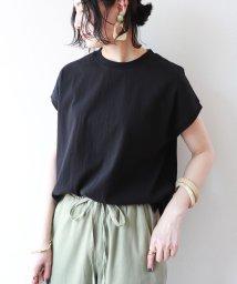 and Me.../コットン裾ラウンドフレンチスリーブTシャツ/503207160