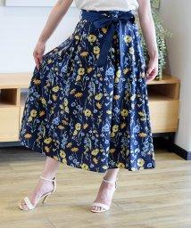 Eimy Peal by POWDER SUGAR/ボタニカルフラワー柄リボン付きスカート/503190141
