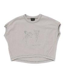 SWAP MEET MARKET/30/-ボタニカルプリント フレンチスリーブ Tシャツ/503201387