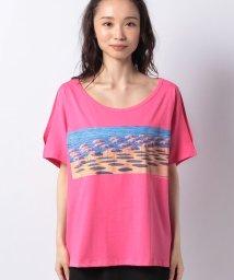 BENETTON (women)/コットンビーチモチーフプリント半袖Tシャツ・カットソー/503201816