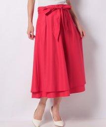 LAPINE BLEUE/【洗える】ポリエステルコットンブロード リボン付きスカート/503202044