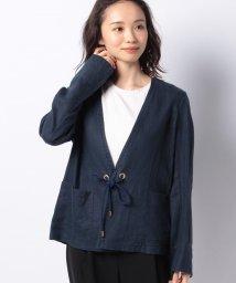 LAPINE BLEUE/【洗える】フレンチリネン ライトジャケット/503202050