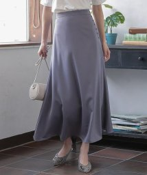 KOBE LETTUCE/サイドボタンマットサテンスカート [M2895]/503216580