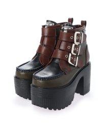 YOSUKE/ヨースケ YOSUKE 厚底ブーツ (カーキコンビ)/503234274