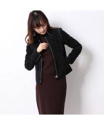 Rename/リネーム Rename スタッズデザインスエードジャケット (ブラック)/503235743