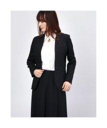 Rename/リネーム Rename リネン混ノーカラーライトジャケット (ブラック)/503237240