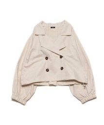 STYLEBLOCK/スタイルブロック STYLEBLOCK 裾ドロストショートトレンチコート (アイボリー)/503240853