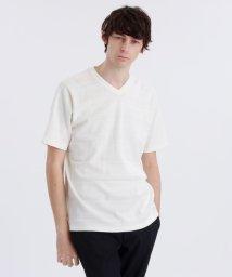 MACKINTOSH PHILOSOPHY/梨地×天竺シャドーボーダーVネックTシャツ/502977328