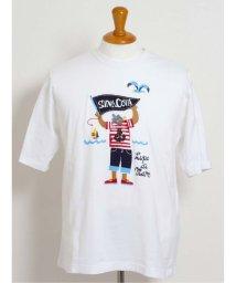 GRAND-BACK/【大きいサイズ】シナコバ/SINA COVA  綿天竺キャラクター クルーネック半袖Tシャツ/503138574