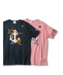 GRAND-BACK/【大きいサイズ】シナコバ/SINA COVA  綿天竺アンカー クルーネック半袖Tシャツ/503138575