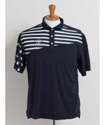 GRAND-BACK/【大きいサイズ】カッター&バック/CUTTER&BUCK フラッグデザインプリント半袖ポロシャツ/503138584