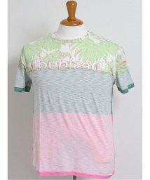 GRAND-BACK/【大きいサイズ】デシグアル/Desigual トロピカルロゴ クルーネック半袖Tシャツ/503138603